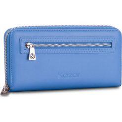 Duży Portfel Damski KAZAR - 28037-01-10  Blue. Niebieskie portfele damskie Kazar, ze skóry. W wyprzedaży za 299.00 zł.