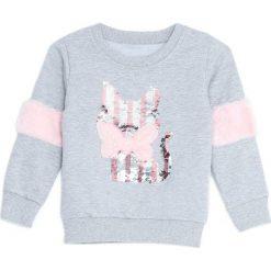 Jasnoszara Bluza Wisdom. Szare bluzy dla dziewczynek Born2be. Za 34.99 zł.