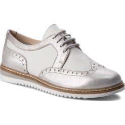 Oxfordy CAPRICE - 9-23603-20 Silver Multi 925. Szare półbuty damskie Caprice, ze skóry. W wyprzedaży za 189.00 zł.