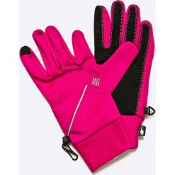 Columbia - Rękawiczki. Różowe rękawiczki damskie Columbia, z dzianiny. W wyprzedaży za 69.90 zł.