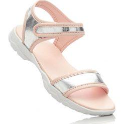 Sandały bonprix srebrno-jasnoróżowy. Sandały damskie marki bonprix. Za 79.99 zł.