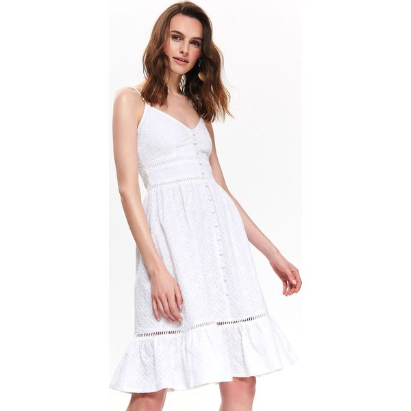3680caa965cf23 TALIOWANA SUKIENKA WAKACYJNA - Białe sukienki damskie TOP SECRET, na ...
