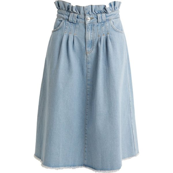 3e4670e1f0d467 NORR FATIMA SKIRT Spódnica jeansowa light blue - Spódnice damskie ...