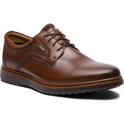 Półbuty CLARKS - Un Geo LaceGtx GORE-TEX 261380417 Brown Leather. Brązowe eleganckie półbuty Clarks, z gore-texu. Za 589.00 zł.