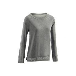 Koszulka długi rękaw Gym & Pilates 500 damska. Niebieskie koszulki sportowe damskie DOMYOS, z bawełny. Za 29.99 zł.