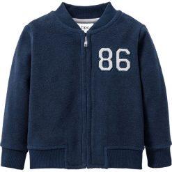 Bluza z polaru niemowlęca bonprix ciemnoniebiesko-szary. Bluzy dla dziewczynek marki Pollena Savona. Za 27.99 zł.