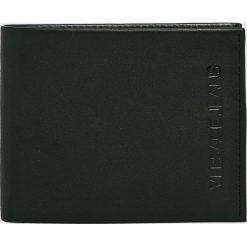Versace Jeans - Portfel skórzany. Czarne portfele męskie Versace Jeans, z jeansu. Za 369.90 zł.