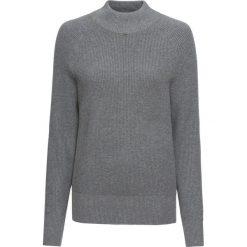 Sweter ze stójką bonprix szary melanż. Swetry damskie marki bonprix. Za 89.99 zł.