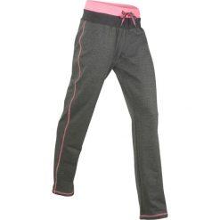 Spodnie sportowe, długie, Level 1 bonprix antracytowy melanż. Spodnie dresowe damskie marki bonprix. Za 59.99 zł.