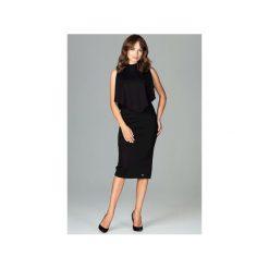 Sukienka K480 Czarny. Czarne sukienki damskie Lenitif, z dekoltem na plecach. Za 179.00 zł.