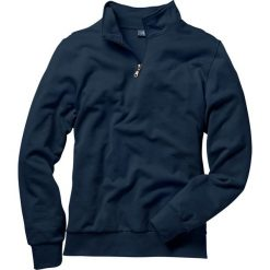 Bluza ze stójką Regular Fit bonprix granatowy. Niebieskie bluzy męskie bonprix. Za 69.99 zł.
