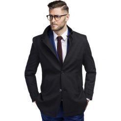 Płaszcz FLORIANO PSCS000099. Czarne płaszcze męskie Giacomo Conti, z materiału, eleganckie. Za 599.00 zł.
