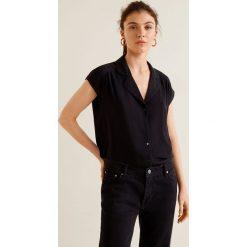 Mango - Koszula Pipe. Szare koszule damskie Mango, z tkaniny, z krótkim rękawem. W wyprzedaży za 69.90 zł.