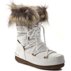 Śniegowce MOON BOOT - Monaco Low 24002900002 Bianco/White. Białe kozaki damskie Moon Boot, z futra. Za 649.00 zł.