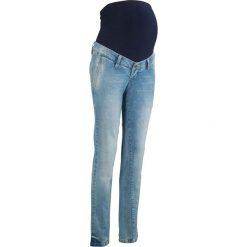 """Dżinsy ciążowe Boyfriend bonprix jasnoniebieski """"bleached"""". Niebieskie jeansy damskie bonprix. Za 109.99 zł."""