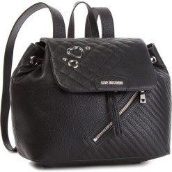 Plecak LOVE MOSCHINO - JC4076PP16LL0000  Nero. Czarne plecaki damskie Love Moschino, ze skóry ekologicznej, eleganckie. Za 959.00 zł.