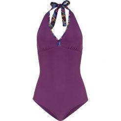 Kostium kąpielowy bonprix jeżynowy. Fioletowe kostiumy jednoczęściowe damskie bonprix. Za 74.99 zł.