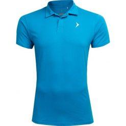 Koszulka polo męska TSM602 - niebieski - Outhorn. Niebieskie koszulki polo męskie Outhorn, z materiału. W wyprzedaży za 34.99 zł.