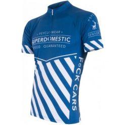 Sensor Męska Koszulka Z Krótkim Rękawem Cyklo Superdomestic Blue. Niebieskie koszulki sportowe męskie Sensor, z krótkim rękawem. W wyprzedaży za 179.00 zł.