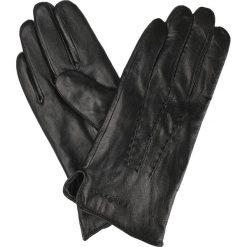 Rękawiczki Skórzane. Czarne rękawiczki męskie LANCERTO, w paski, ze skóry. W wyprzedaży za 69.90 zł.