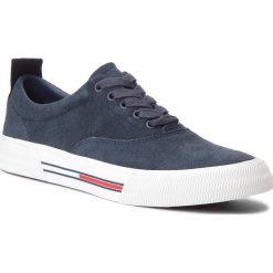 Tenisówki TOMMY JEANS - Oxford City Sneaker EM0EM00149 Ink 006. Niebieskie trampki męskie Tommy Jeans, z gumy. W wyprzedaży za 279.00 zł.