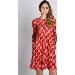 Sukienka typu parasolka z długim rękawem BIALCON. Brązowe sukienki damskie BIALCON, z długim rękawem. W wyprzedaży za 109.00 zł.