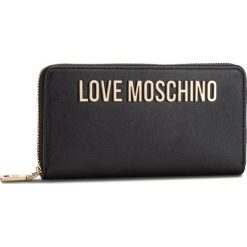 Duży Portfel Damski LOVE MOSCHINO - JC5593PP06KU0000  Nero. Czarne portfele damskie Love Moschino, ze skóry ekologicznej. Za 429.00 zł.