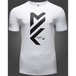 T-shirt męski Maciek Kot Collection TSM502 - biały. Białe t-shirty męskie 4f, z bawełny. W wyprzedaży za 39.99 zł.
