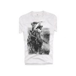 T-shirt UNDERWORLD Ring spun cotton Soldier. Białe t-shirty męskie Underworld, z nadrukiem, z bawełny. Za 59.99 zł.