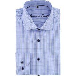 Koszula RICCARDO 16-05-27-K. Niebieskie koszule męskie Giacomo Conti, z bawełny, z włoskim kołnierzykiem. Za 229.00 zł.