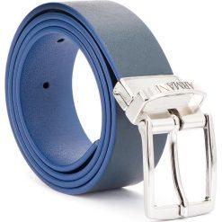 Pasek Męski EMPORIO ARMANI - 401520 8A560 06935 L Navy Blue. Niebieskie paski damskie Emporio Armani, w paski, ze skóry ekologicznej. Za 269.00 zł.