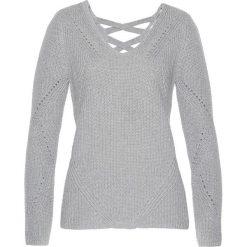 Sweter bonprix szary melanż. Szare swetry damskie bonprix, z bawełny. Za 89.99 zł.