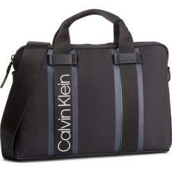 Torba na laptopa CALVIN KLEIN - Clash Laptop Bag K50K504228 001. Czarne torby na laptopa damskie Calvin Klein, z materiału. Za 549.00 zł.