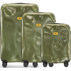 Walizki Icon w zestawie 3 el. matowy oliwkowy. Walizki męskie Crash Baggage, z materiału. Za 2,628.00 zł.