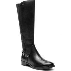 Oficerki CAPRICE - 9-25521-21 Black Nappa 022. Czarne kozaki damskie Caprice, z materiału. W wyprzedaży za 399.00 zł.