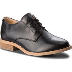 Oxfordy CLARKS - Edenvale Ash 261363034 Black Leather. Czarne półbuty damskie Clarks, ze skóry. W wyprzedaży za 279.00 zł.