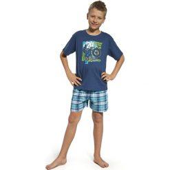 Piżama chłopięca Motocross granatowo-turkusowa r. 134/140. Niebieskie bielizna dla chłopców Cornette. Za 55.30 zł.