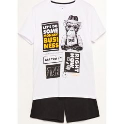 Piżama dwuczęściowa z szortami - Biały. Białe piżamy męskie Reserved. Za 59.99 zł.