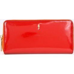 Ochnik - Portfel skórzany. Czerwone portfele damskie Ochnik, z materiału. W wyprzedaży za 229.90 zł.