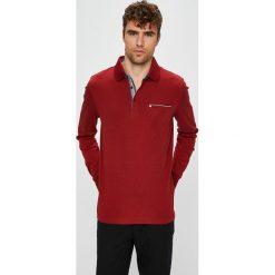 Pierre Cardin - Longsleeve. Brązowe bluzki z długim rękawem męskie Pierre Cardin, z bawełny, polo. W wyprzedaży za 219.90 zł.
