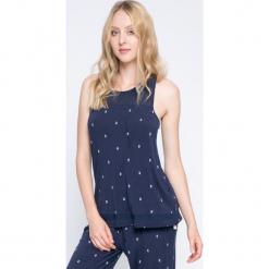 Dkny - Top piżamowy. Szare piżamy damskie DKNY, z dzianiny. W wyprzedaży za 119.90 zł.