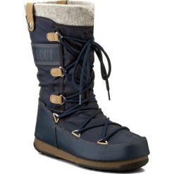Śniegowce MOON BOOT - Monaco Felt 24003200006 Denim Blue. Niebieskie śniegowce i trapery damskie Moon Boot, z denimu. Za 649.00 zł.