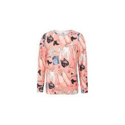 Bluza Outfit. Brązowe bluzy damskie Pinky planet, z nadrukiem, z bawełny. Za 60.00 zł.