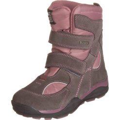 Botki w kolorze szaro-fioletowym. Botki dziewczęce Zimowe obuwie dla dzieci. W wyprzedaży za 165.95 zł.