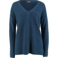 Sweter bonprix ciemnoniebieski. Niebieskie swetry damskie bonprix. Za 37.99 zł.