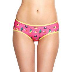 Happy Socks - Figi Mesh Hipster Bird. Różowe figi damskie Happy Socks, z dzianiny. W wyprzedaży za 49.90 zł.