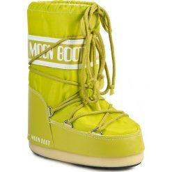 Śniegowce MOON BOOT - Nylon 14004400070 Lime M. Śniegowce dziewczęce Moon Boot, z materiału. W wyprzedaży za 249.00 zł.
