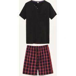 Piżama dwuczęściowa z szortami - Czarny. Czarne piżamy męskie Reserved. Za 59.99 zł.