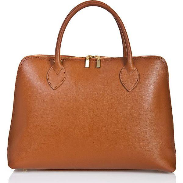 9fd0027914258 Skórzana torebka w kolorze brązowym - 37 x 40 x 25 cm - Torby na ...