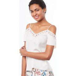 Etam - Top piżamowy Mimosa. Szare piżamy damskie Etam, z bawełny. W wyprzedaży za 69.90 zł.